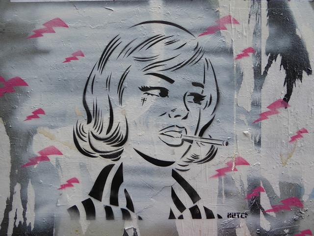 Hutch stencil, Shoreditch