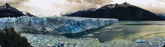 Frente al glaciar