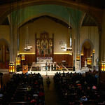 Tue, 20/02/2018 - 1:09pm - The trio of Sara Watkins, Sarah Jarosz and Aoife O'Donovan play for WFUV listeners at the Fordham University Church in NYC, 2/20/18. Hosted by John Platt. Photo by Gus Philippas/WFUV