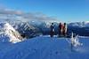 Poslední pohledy na Alpy z vrcholu Häsing 1728 m n./m