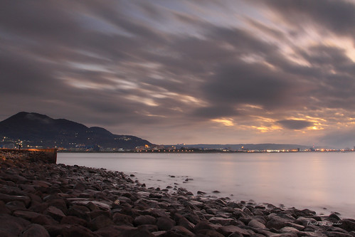 夕陽 雲 觀音山 油車口 沙崙 淡水 新北市 台灣 taiwan sunset clouds