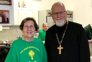Father & Marie at Yard Sale | by Holy Spirit Orthodox Church