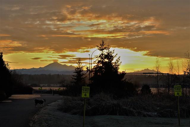 Nice sunrise at Langley BC Canaqda