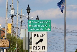 Directional sign in Jefferson (York County), PA