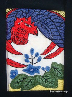 Kiri (桐, paulownia), Hanafuda Tapestry | by Beelationship Embroidery Studio