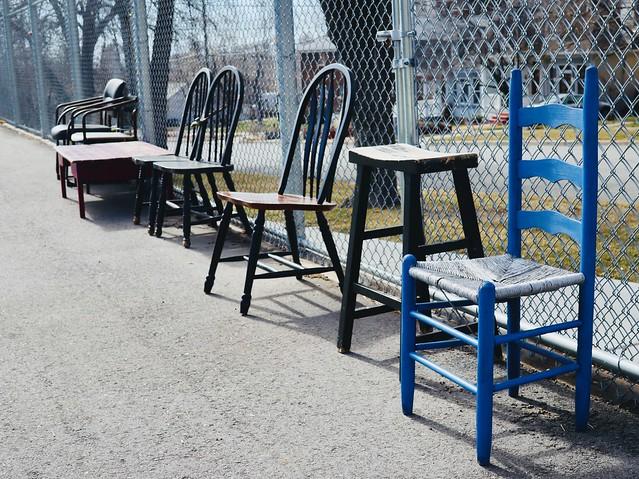 1 Light Blue Chair