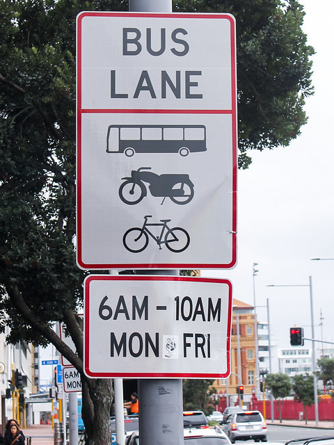 Bus lane - Auckland, NZ