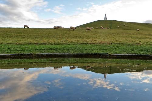 canon powershot sx280 milton keynes campbell park sheep light pyramid reflection buckinghamshire