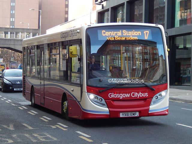 Glasgow Citybus 11205 YX61EMJ (1)