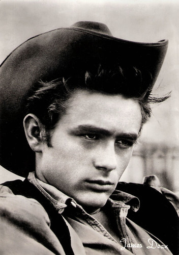 James Dean at the set of Giant (1956)