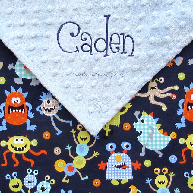Monsters Baby Blanket - Personalized