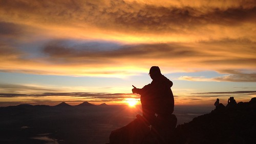 dawn top trekking cloud sky iphone scenery hiking climbing mountain summit orange sun sunrise centraljava volcano asia java indonesia