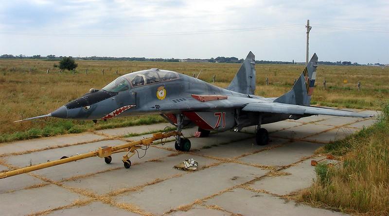 МиГ-29УБ точка опоры 4