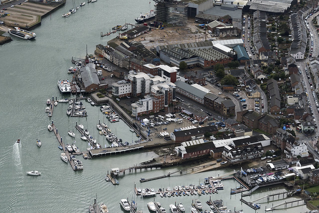 Cowes on the River Medina - Isle of Wight aerial