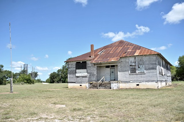 Abandoned Berclair Schoolhouse - Berclair,Texas