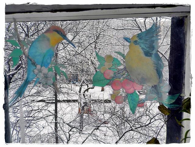 From Kitchen with window stickers- A matricás konyhaablakból (:
