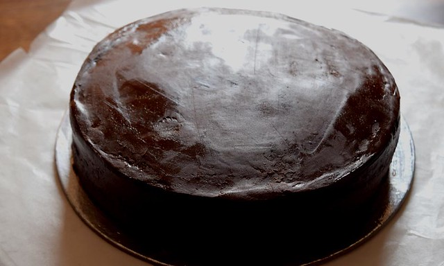Death by chocolate Cake cover with ganache
