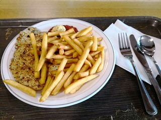 Veal Escalope with fries   by A. Wee