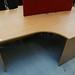 1600 by 1200 beech radial desk E130