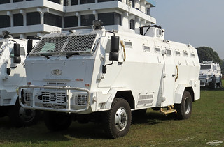 Bangladesh Police Rhino Armored Crowd Control Vehicle.