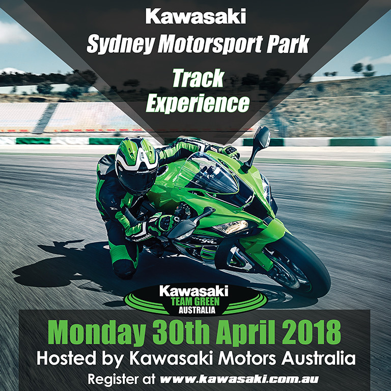 **SOLD OUT** Kawasaki Team Green Australia Track Event at Sydney Motorsport Park – 30th April 2018 – Registrations Now Open