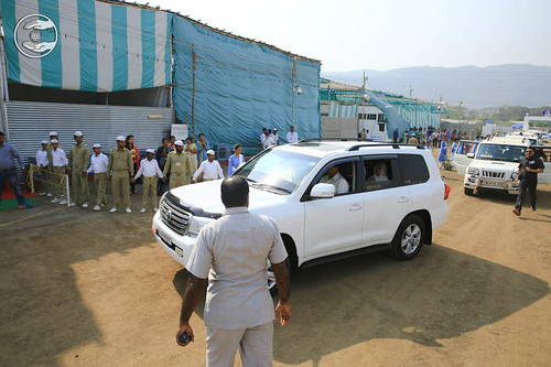 Arrival of Her Holiness in the Samagam Campus
