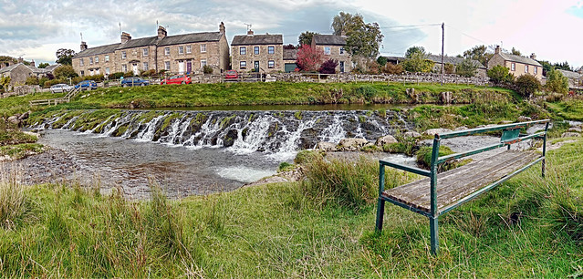 A view of the weir at Maulds Meaburn