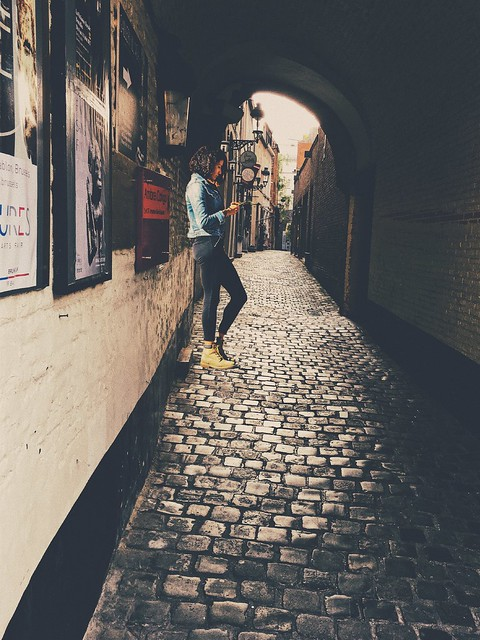 Down in the alley...