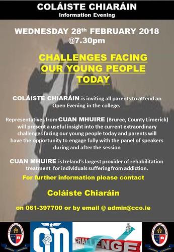 CUAN MHUIRE school talk poster, 28-02-2018 | by cchiarain