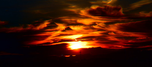 sunset winter clouds kingman arizona