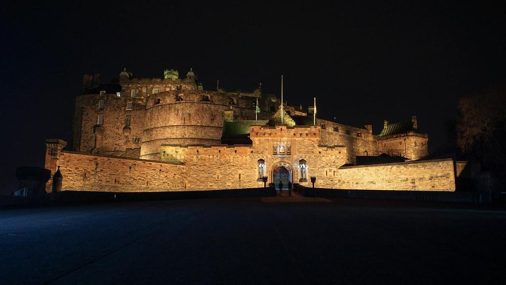 Edinburgh Castle At Night Edinburgh Castle Is A Historic F Flickr