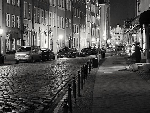 Streets of Gdansk by night/ Gatene i Gdansk i mørket