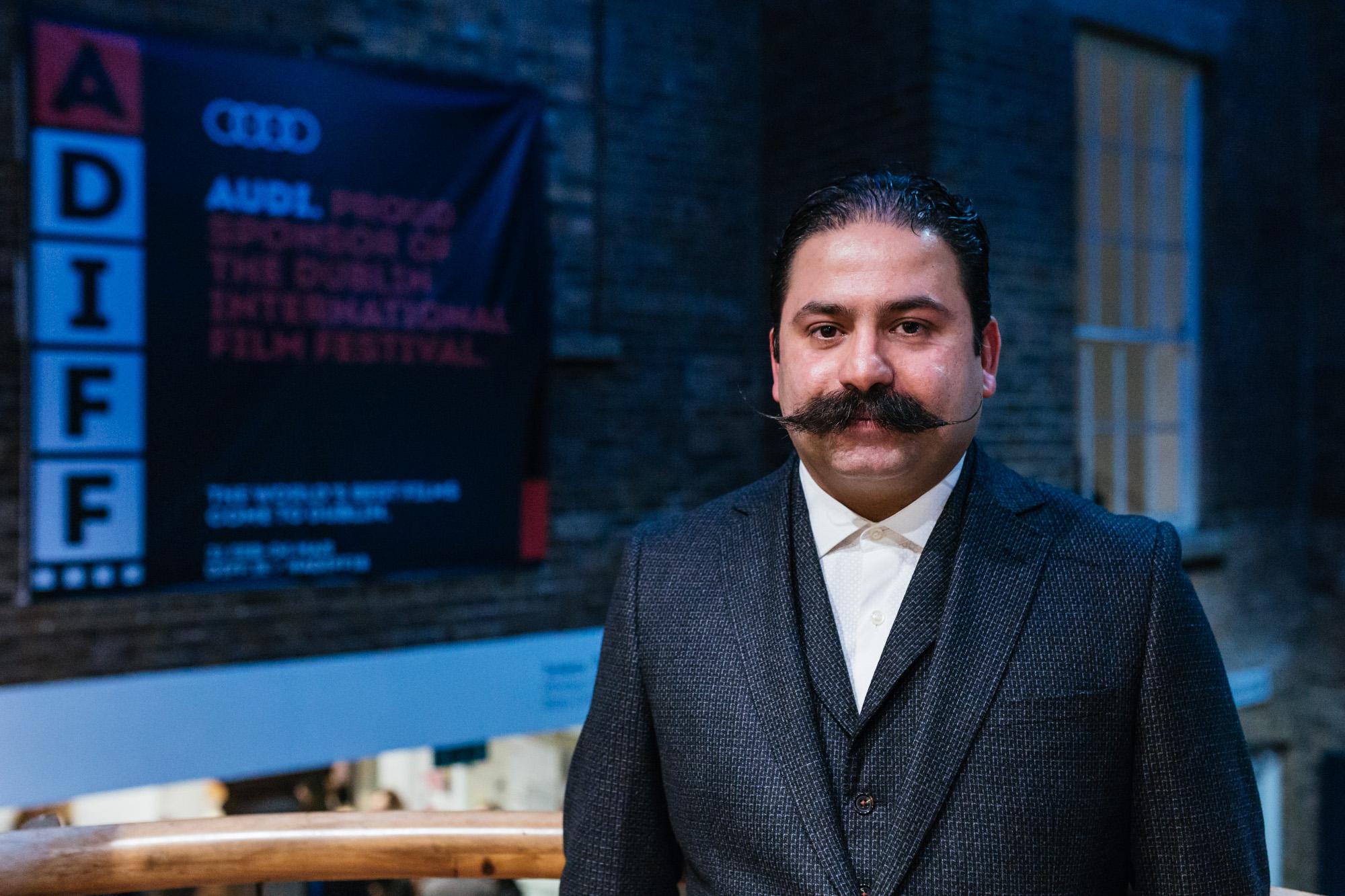 Director Rouzbeh Rashidi at the premiere of his film Phantom Islands at ADIFF 2018