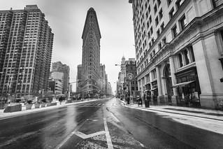 Flatiron Building long exposure during winter in New York City, USA | by Tim van Woensel