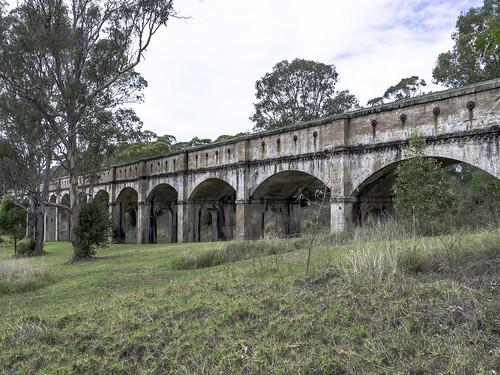 boothtownaqueduct greystanesaqueduct greystanesnsw lowerprospectcanal prospectreservoir uppernepeanscheme sydney nsw newsouthwales australia olympus paulleader heritagebuilding architecture