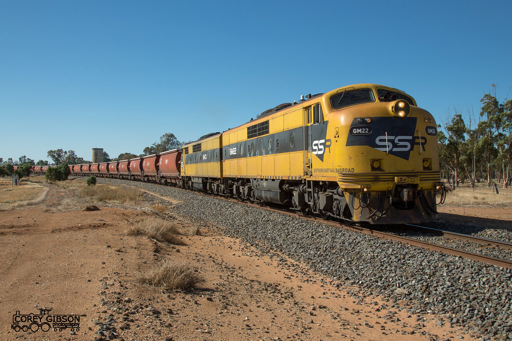 #7934V up SSR Grain with GM22 & GM10 from Warracknabeal rolls through Minyip by Corey Gibson