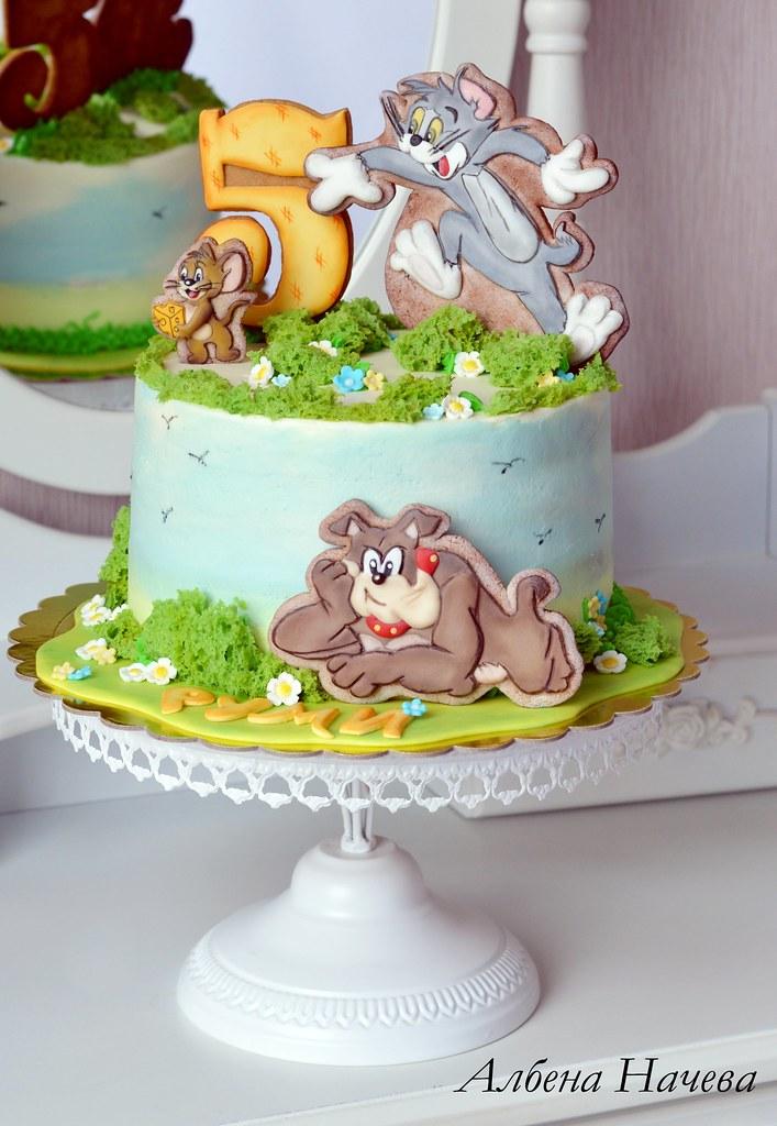 Groovy Tom And Jerry Birthday Cake Albena Nacheva Flickr Birthday Cards Printable Trancafe Filternl