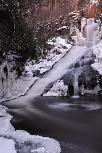 dingmansfalls delawarewatergap dingmanscreek waterfall snow ice