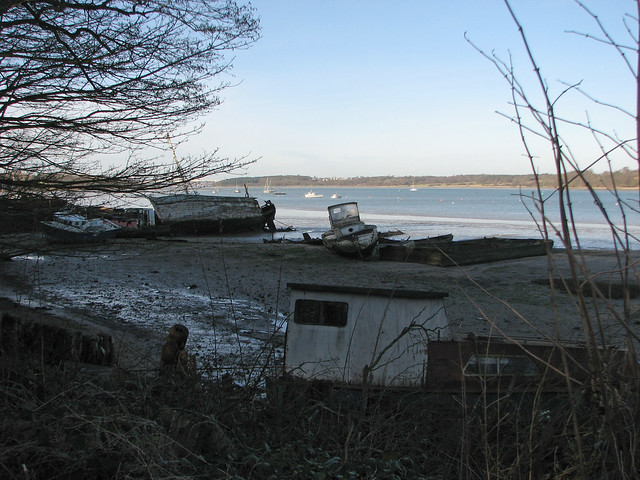 Boat graveyard, Chelmondiston