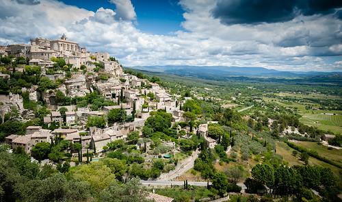 provence france landscape village hill