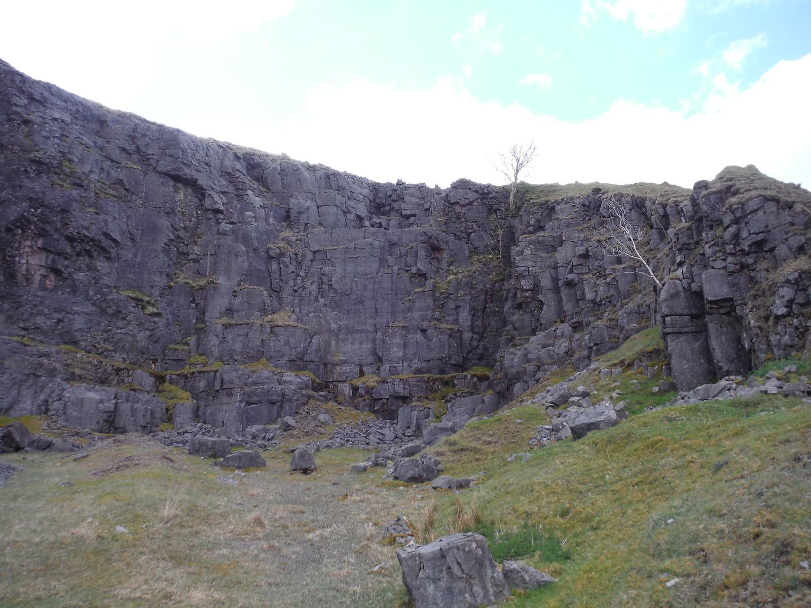 Quarry just off Dismantled Tramway SWC Walk 307 - Fforest Fawr Traverse (Craig y Nos to Llwyn-y-celyn)