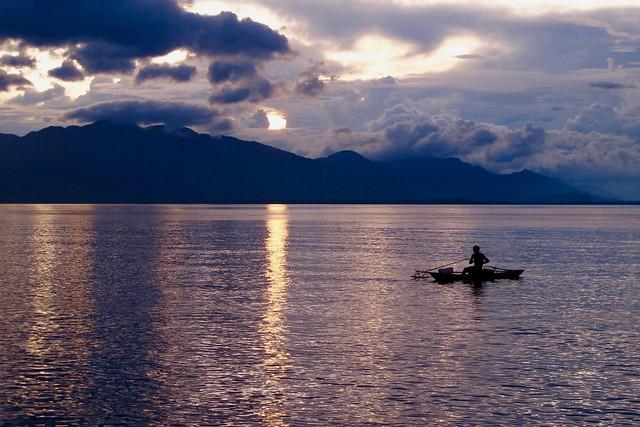 Morning on  Solomon sea