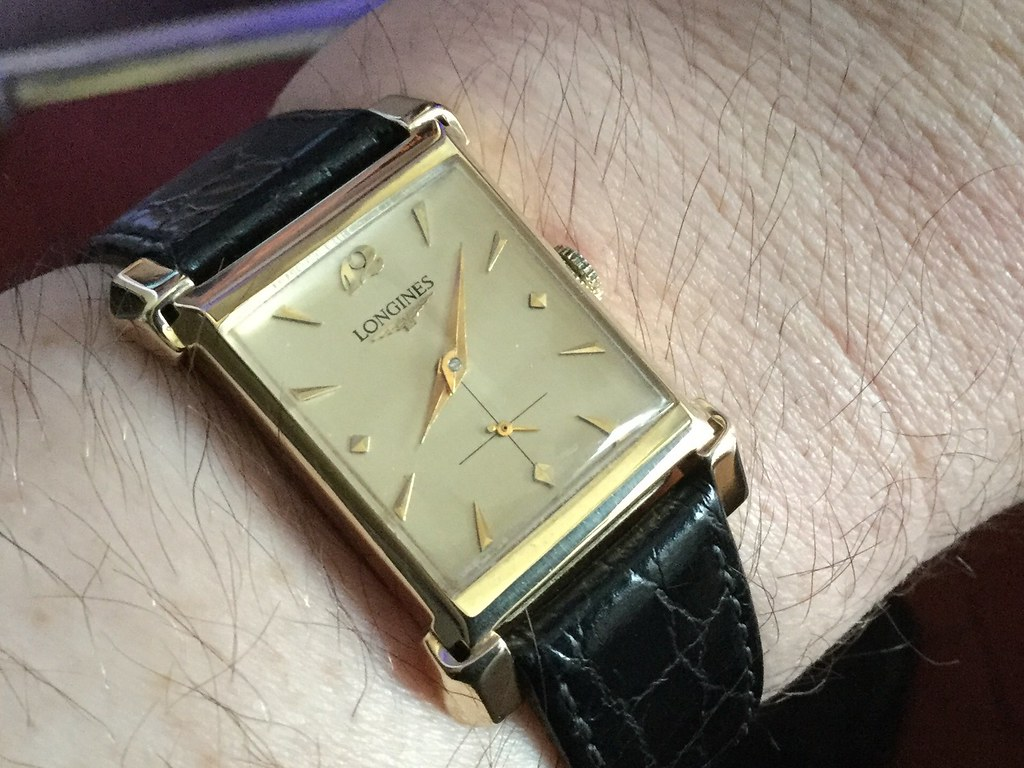 14ct Longines, calibre 9LT, from 1953.