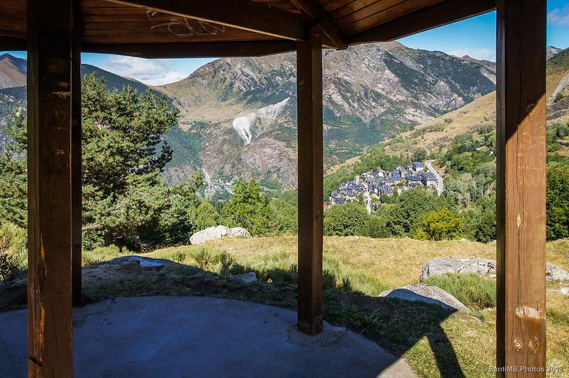 Taüll y Erill la Vall desde el mirador del Pla de l'Ermita