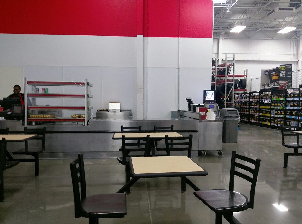 Another view of the new café seating, and temporary