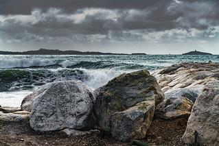 Stones and stormy Sea | by x1klima