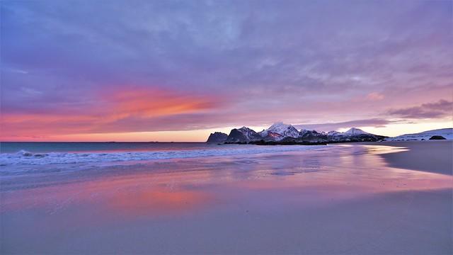 Sunrise across the beach