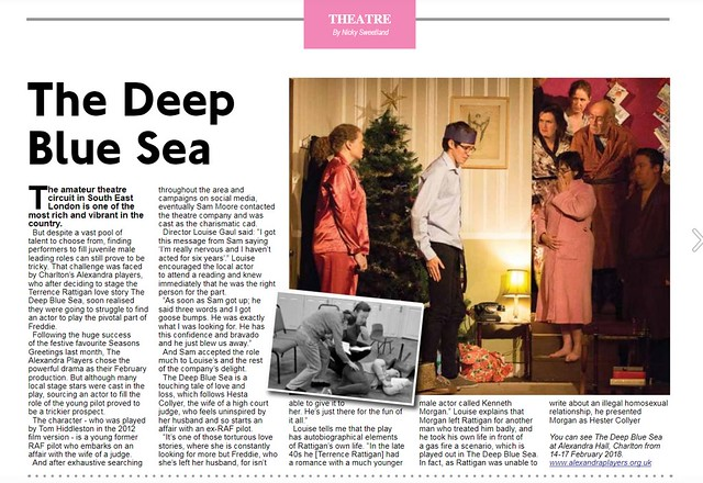 Press snippets about The Alexandra Players from features in local papers