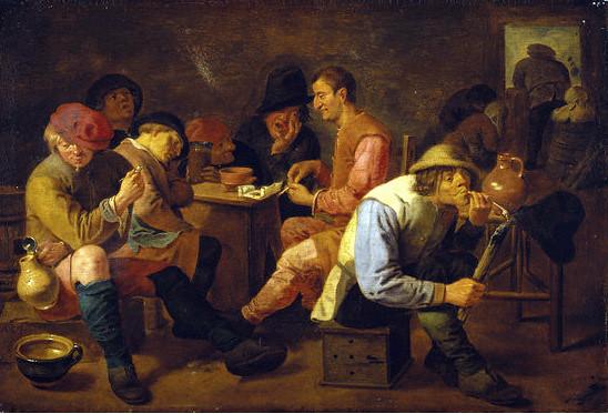 Adriaen Brouwer, Raucher und Trinker in einer Kneipe - Smokers and drinkers in a pub