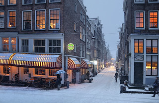 Warm city lighting in the winter | by B℮n